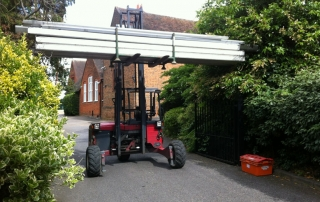 Delivering Marquees with a Truck Mounted Forklift