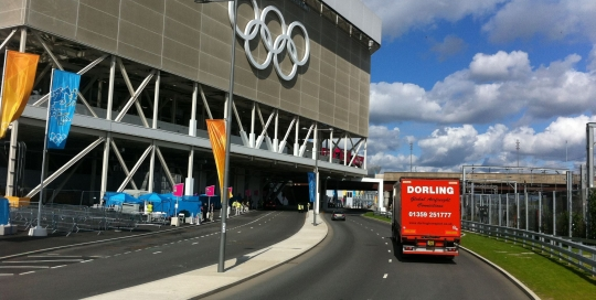 Urgent curtainside delivery to the London 2012 Olympics